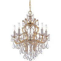 Shop crystorama maria theresa collection 6 light gold chandelier crystorama maria theresa 5 light polished gold chandelier mozeypictures Choice Image