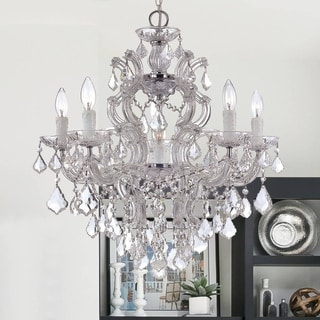 Crystorama Maria Theresa 5-light Chrome Finish Chandelier