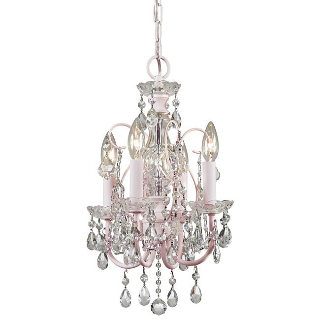 Crystorama Imperial Collection 4-light Blush Chandelier