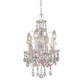 Crystorama Imperial Collection 4-light Blush Chandelier|https://ak1.ostkcdn.com/images/products/6408643/P14017482.jpg?impolicy=medium