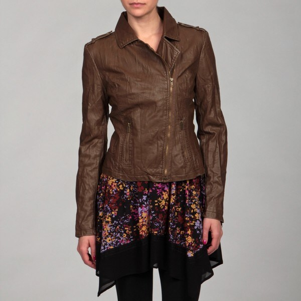 Romeo & Juliet Women's Faux-leather Jacket