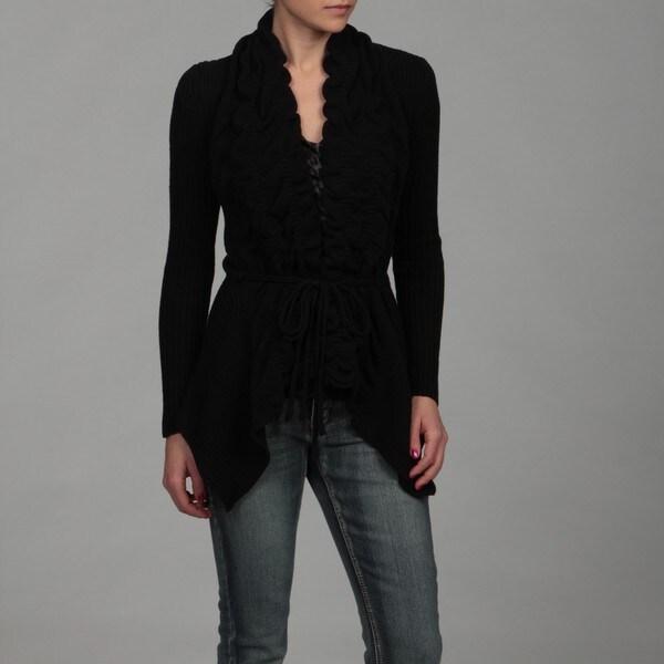 15e77cbdbbf3 Shop Romeo   Juliet Women s Ruffle Front Tie Waist Cardigan - Free ...