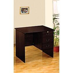 Espresso Three-drawer Computer Stand