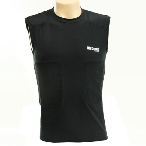 McDavid Young Men's Black Sleeveless Body Shirt