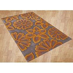 Alliyah Handmade Radiant Yellow New Zealand Blend Wool Rug (8' x 10')