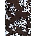 Alliyah Handmade New Zeeland Blend Floral Brown Area Rug - 5' x 8'