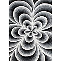 Alliyah Handmade Tufted Black/ White Flowers New Zealand Blend Wool Rug (8' x 10')