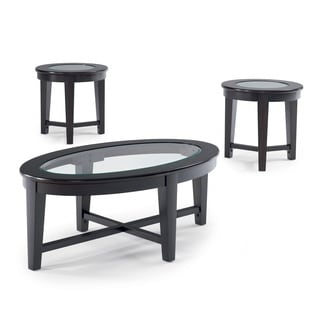 Coaster Company Espresso 3-piece Table Set  sc 1 st  Overstock & Wood Table Sets Coffee Console Sofa \u0026 End Tables For Less   Overstock
