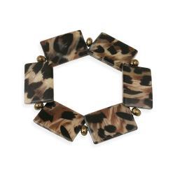 Glitzy Rocks Leopard Stretch Bracelet - Thumbnail 1