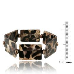 Glitzy Rocks Leopard Stretch Bracelet - Thumbnail 2