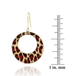 Mondevio 18k Gold Overlay Enamel Dangle Earrings - Thumbnail 2