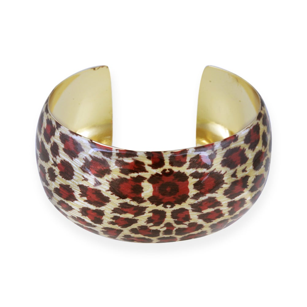 Glitzy Rocks 18k Gold Overlay Enamel Bangle