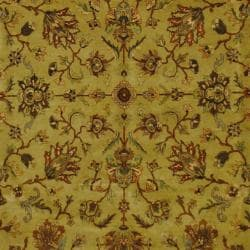 Indo Hand-knotted Mahal Beige/ Brown Wool Rug (8'2 x 10')