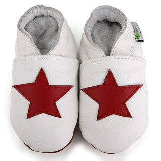 Red Star Soft Sole Leather Baby Shoes