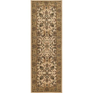 Dorchester Beige and Green Rug (2'6 x 7'9)