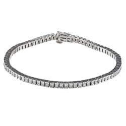 Montebello 14k White Gold 5ct TDW IGL Certified Princess-cut Diamond Tennis Bracelet (H-I, I1)