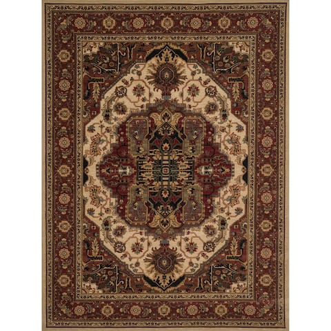 Dorchester Beige and Rust Rug - 2' x 3'