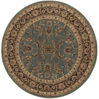 Dorchester Blue and Brown Rug (5'2 Round)
