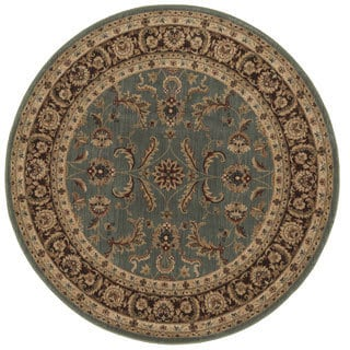 Dorchester Blue and Brown Rug (7'7 Round)