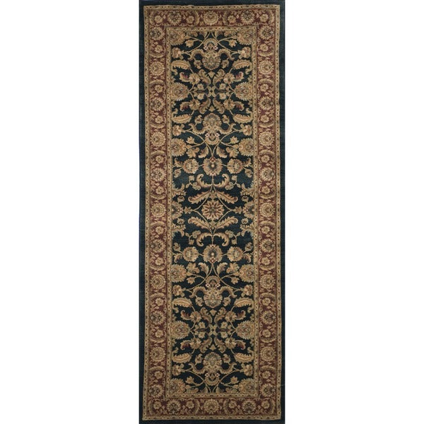 Dorchester Black and Rust Rug (2'6 x 7'9)