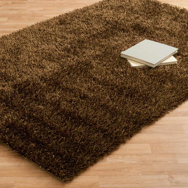 Caldera Hand-tufted Brown Shag Rug (5' x 7'6)