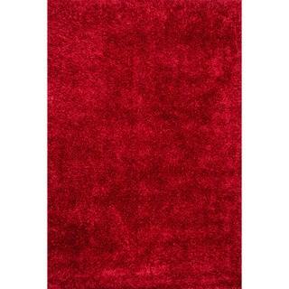 Caldera Hand-tufted Red Shag Rug (5' x 7'6)