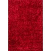 Caldera Hand-tufted Red Shag Rug (3'6 x 5'6)