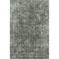 Caldera Hand-tufted Steel Shag Rug (5' x 7'6)