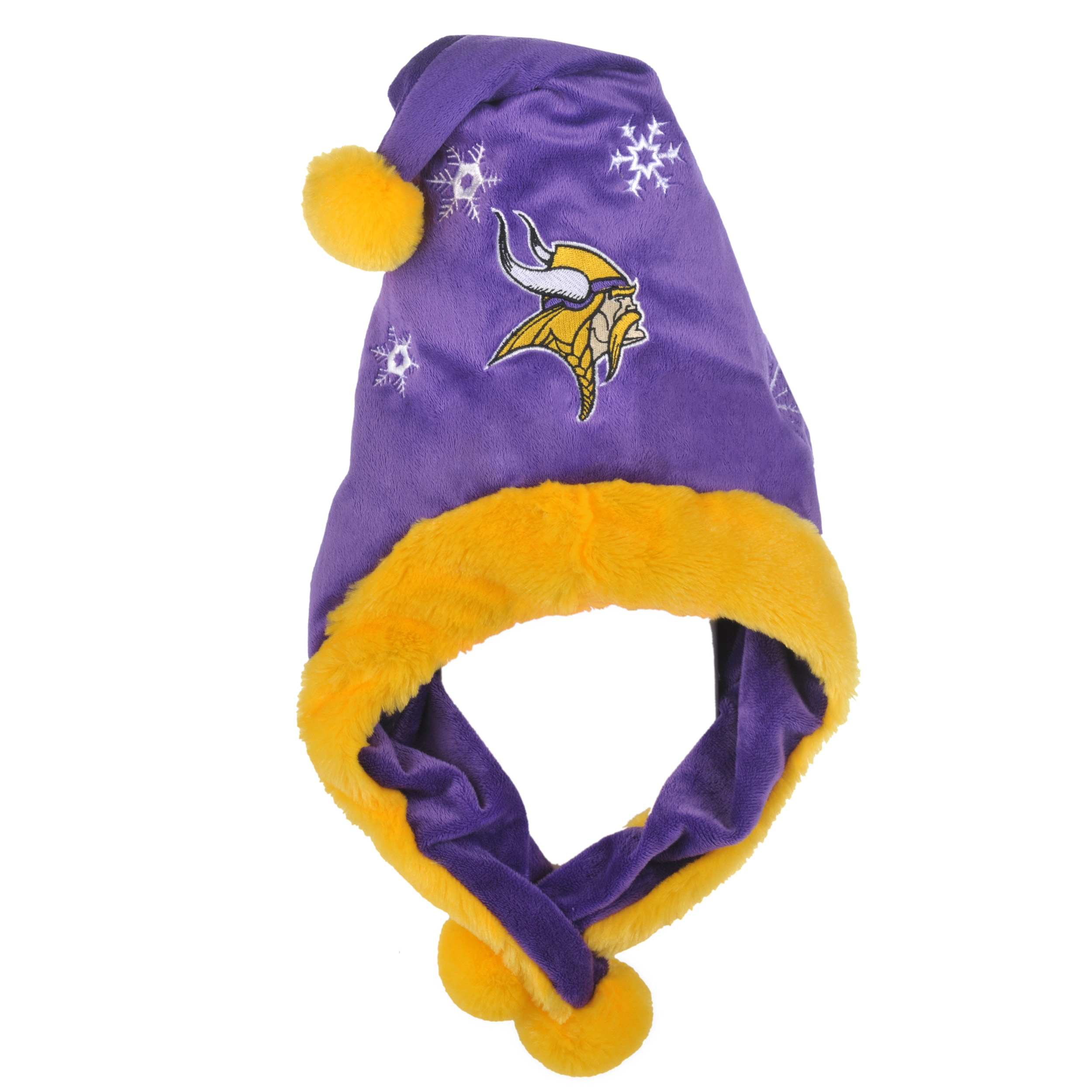 Forever Collectibles Minnesota Vikings Thematic Santa Hat