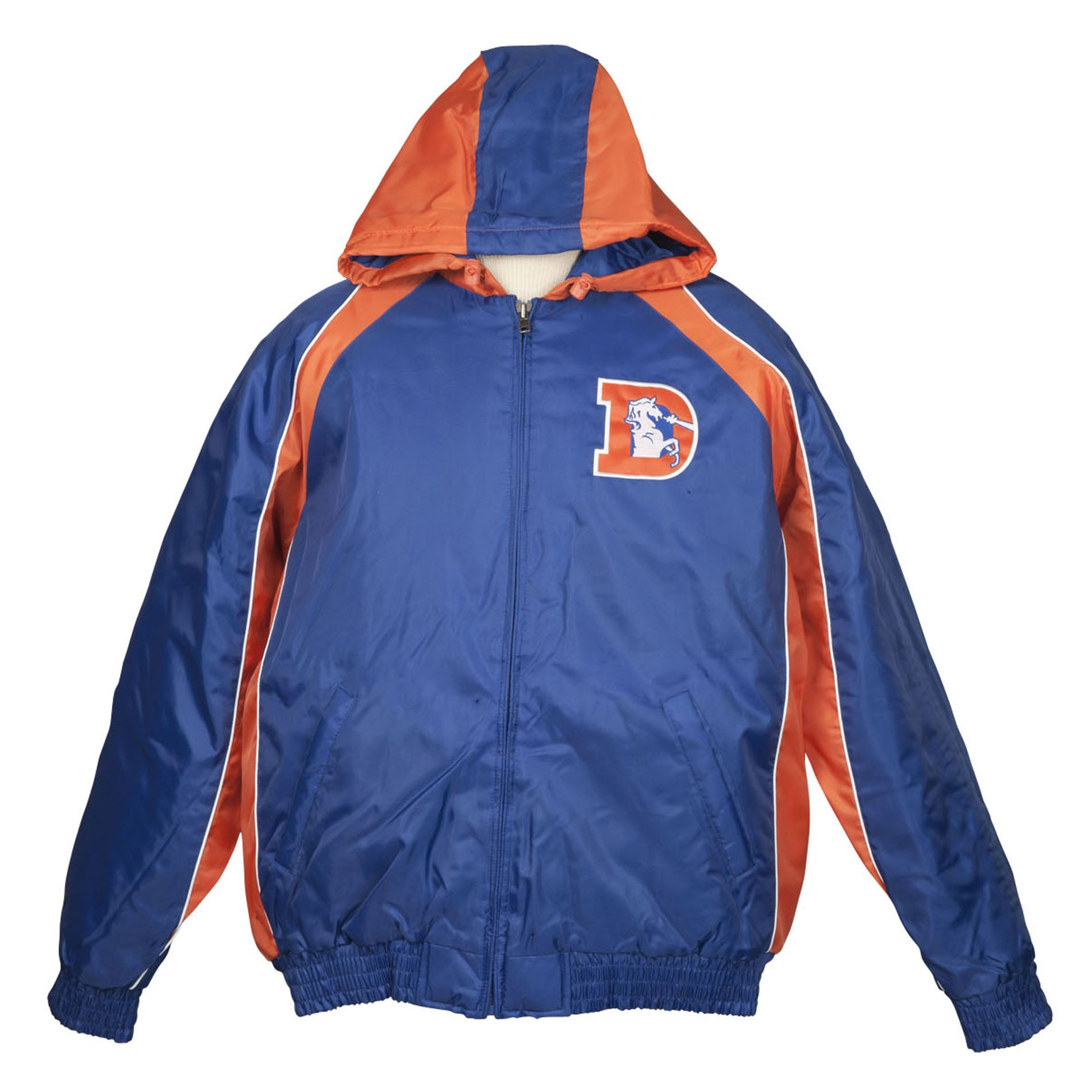 Denver Broncos Throwback Hooded Heavy Weight Jacket