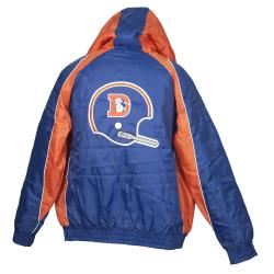 Denver Broncos Throwback Hooded Heavy Weight Jacket - Thumbnail 1