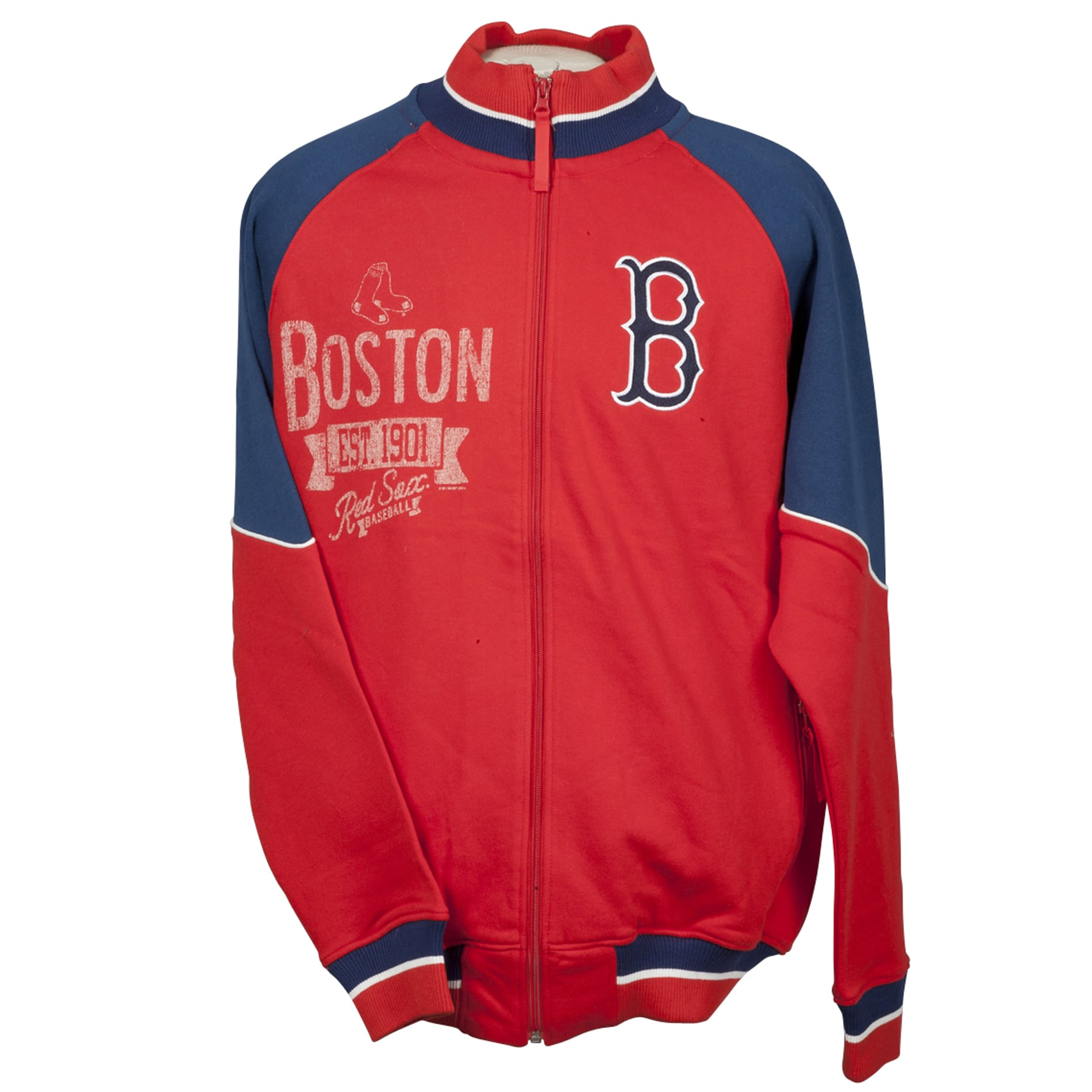 Boston Red Sox Full Zip Cotton Track Jacket - Thumbnail 0