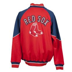 Boston Red Sox Full Zip Cotton Track Jacket - Thumbnail 1