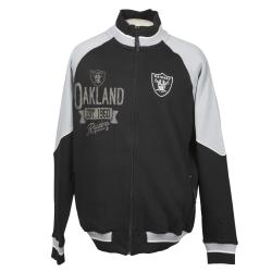 Oakland Raiders Full Zip Cotton Track Jacket - Thumbnail 0