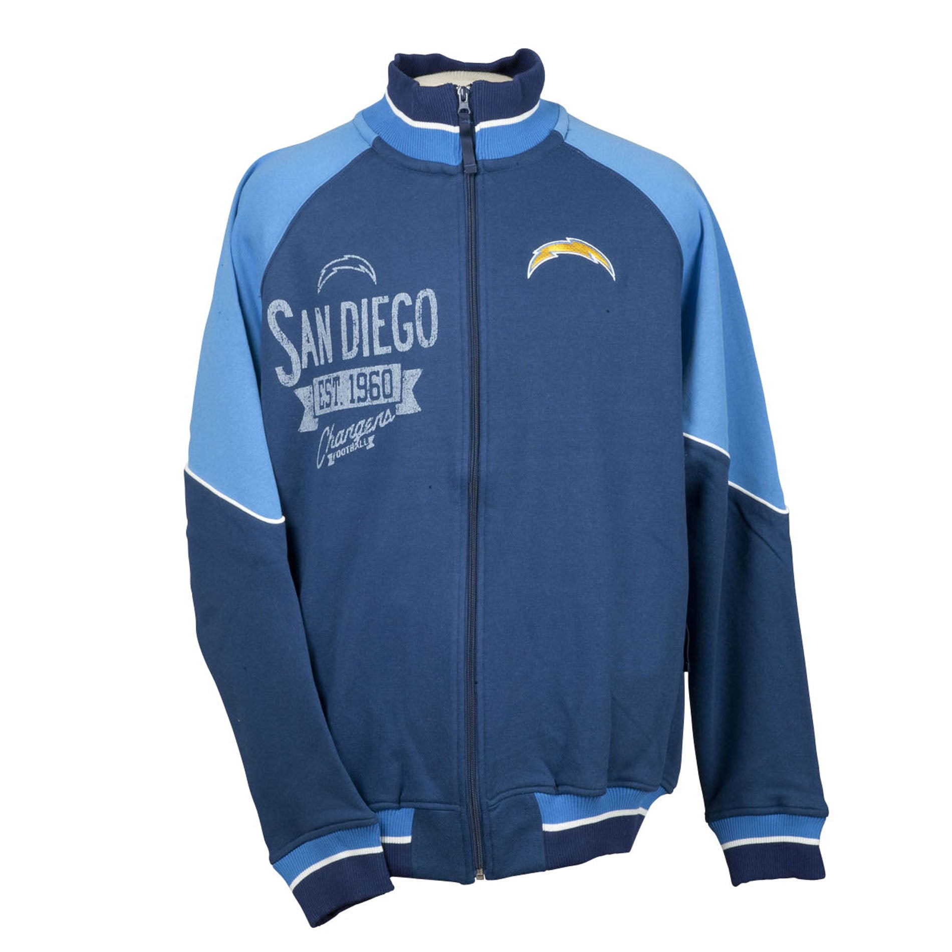 San Diego Chargers Full Zip Cotton Track Jacket