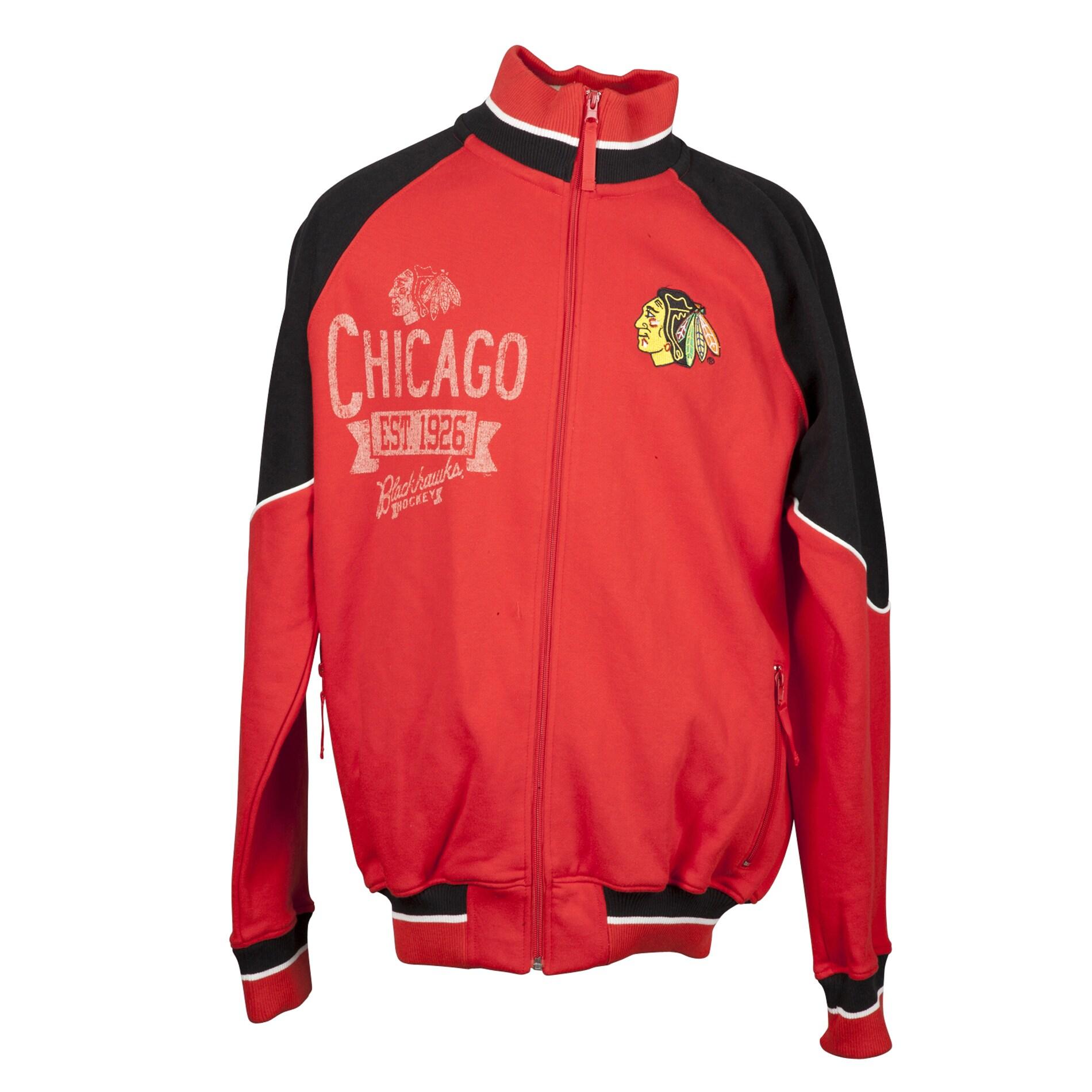 Chicago Blackhawks Full Zip Cotton Track Jacket