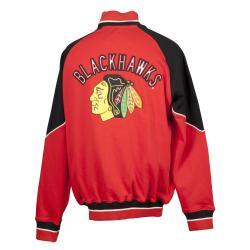 Chicago Blackhawks Full Zip Cotton Track Jacket - Thumbnail 1