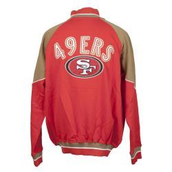 San Francisco 49ers Full Zip Cotton Track Jacket - Thumbnail 1