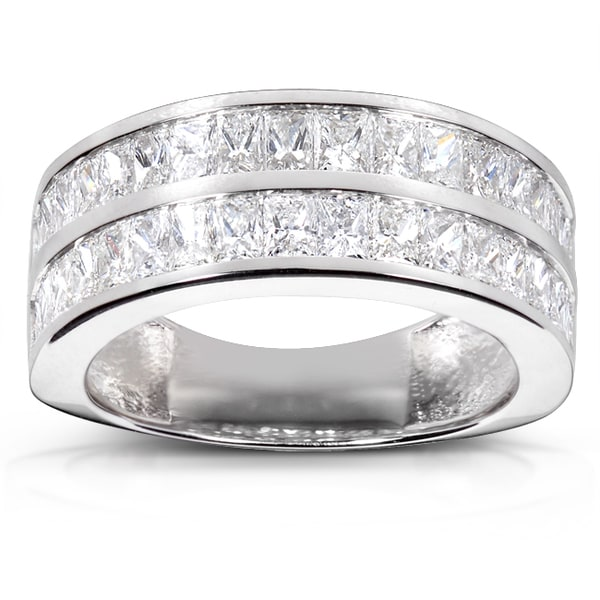 Annello by Kobelli 14k White Gold 2 1/2ct TDW Diamond Band (F-G, VS1-VS2)