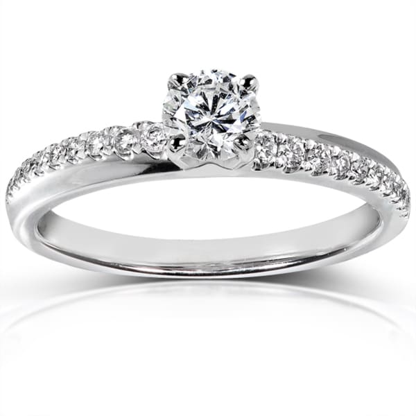 Annello by Kobelli 14k White Gold 3/5 ct TDW Certified Diamond Engagement Ring (F-G, I1)