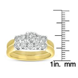 14k Two-Tone Gold 1ct TDW Diamond Bridal Ring Set (G-H, I1)