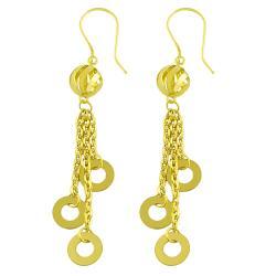 Fremada 14k Yellow Gold Triple Strand Dangle Earrings