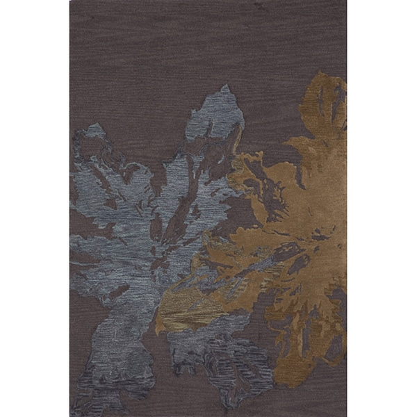 Hand Tufted Montage Splash Charcoal Rug (7'6x9'6)