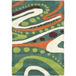 Safavieh Handmade Journey Teal New Zealand Wool Rug (2' x 3')
