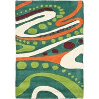 Safavieh Handmade Journey Teal New Zealand Wool Rug - 2' X 3'