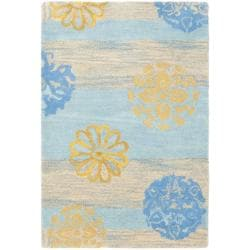 Safavieh Handmade Eternity Blue New Zealand Wool Rug (2' x 3')