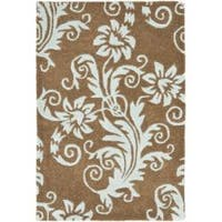 Safavieh Handmade New Zealand Wool Paris Light Brown Rug - 2' x 3'