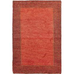 Safavieh Hand-knotted Gabeh Passage Orange Wool Rug (2' x 3')