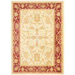 Safavieh Oushak Cream/Red Oriental Powerloomed Rug (4' x 5'7)