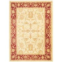 Safavieh Oushak Cream/ Red Oriental Rug - 4' x 5'7'